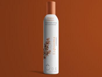 Mousse pour cheveux et corps au caramel pour hydratation et soin sans rinçage